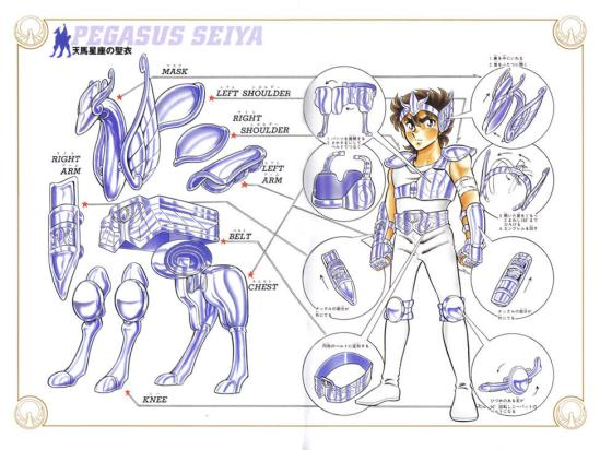 armatura di pegasus manga originale